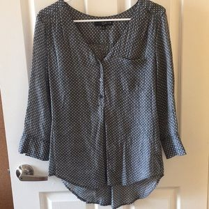 Grey with white polka dots blouse